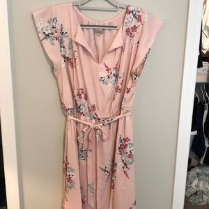 Loft Cherry blossom fit and flare dress. XLP